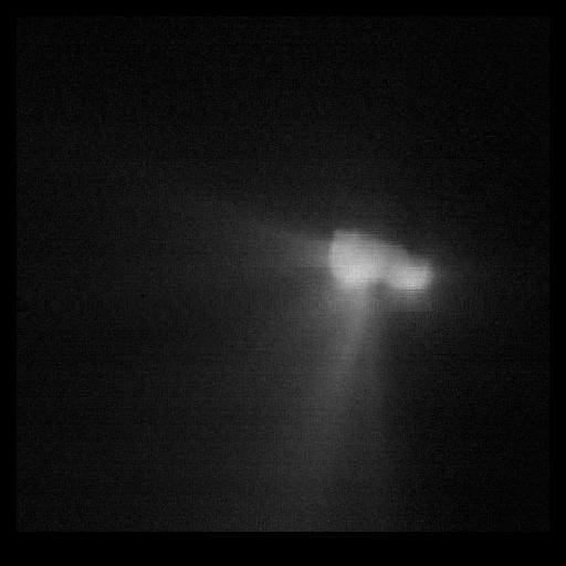 Le noyau de la comète Halley pris par la sonde Vega 2