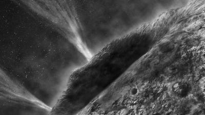 Cette image est une vision d'artiste des jets de la comète 81P/Wild (NASA/ JPL)