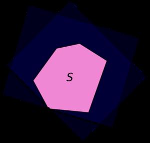 Hyperplan d'appui au niveau d'un sommet d'un polyèdre.