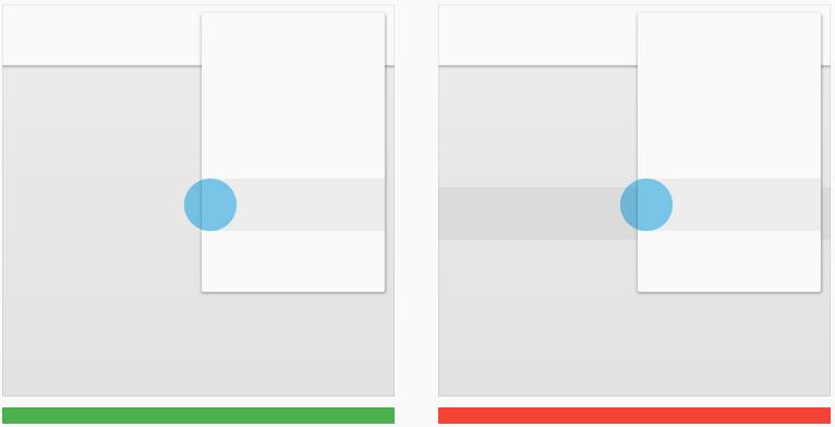 L'interaction utilisateur ne traverse pas la matière. Crédit : Google Design