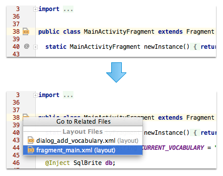 Consulter les fichiers XML attachés à une Activity, un Fragment ou une vue