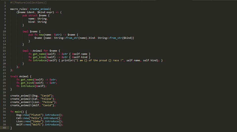 Code source Rust sous Sublime Text.