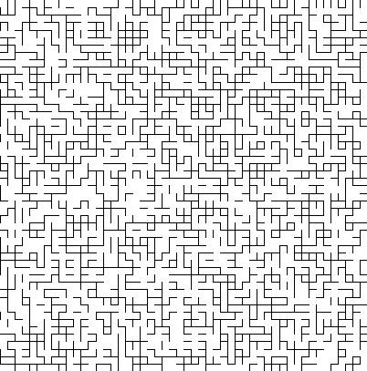 Réseau de segment percolant