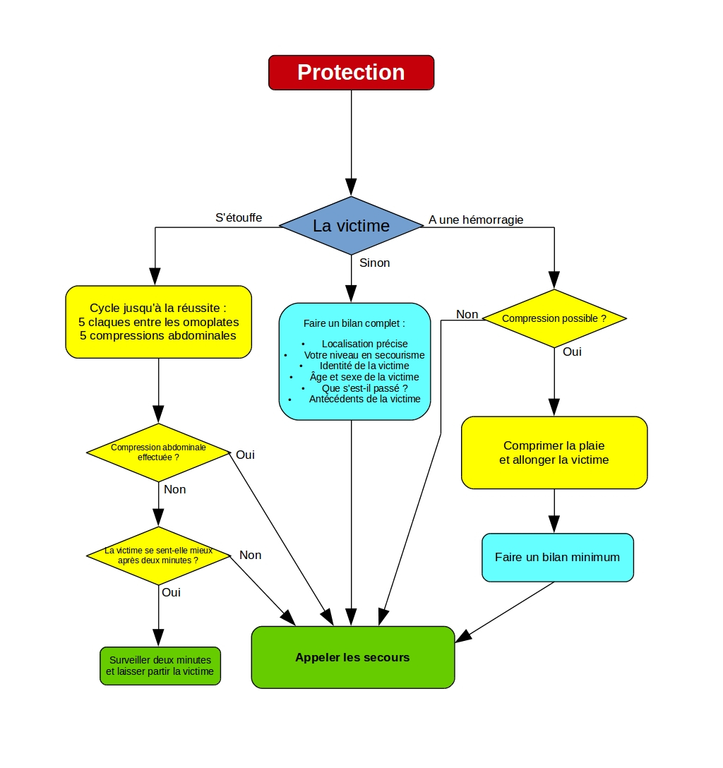 Organigramme de transmission d'alerte