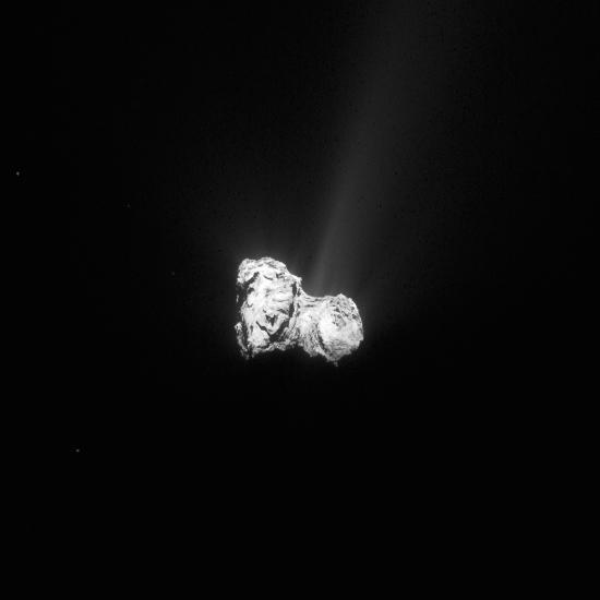 Tchouri, le 30 aout 2015, photographie prise à 404km du centre de la comète.
