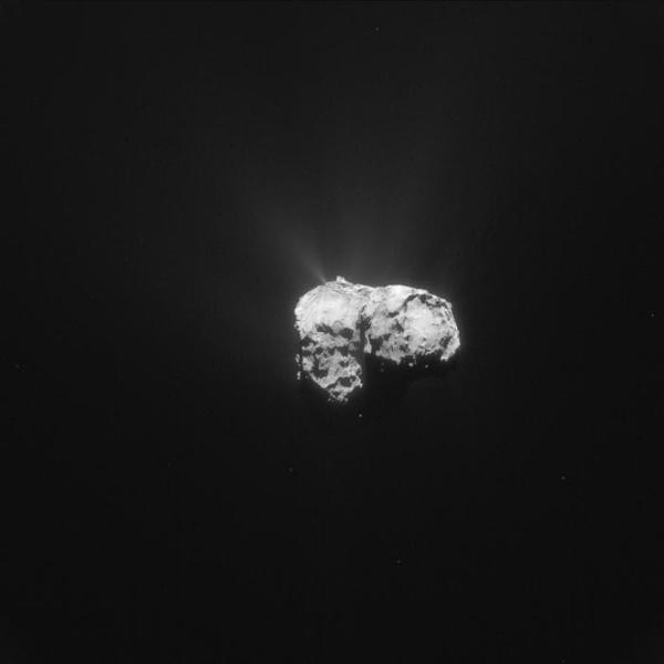 Vue d'ensemble de Tchouri, le 12 novembre 2015. L'image a été prise à 178 km de distance et fait 15,5 km de côté.