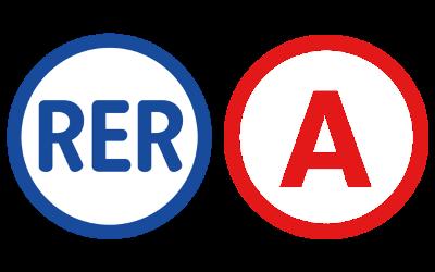 Logo actuel du RER A.