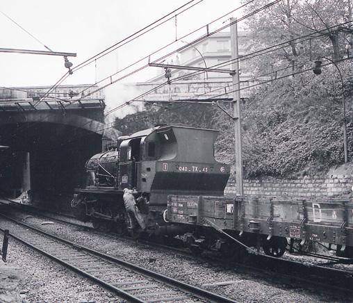 Une des dernières locomotives à vapeur, en octobre 1969.