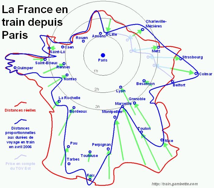 La France depuis Paris en train — philippe.gambette.free.fr