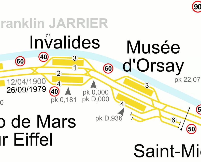 Les gares d'Invalides et du Musée d'Orsay sont vraiment proches.