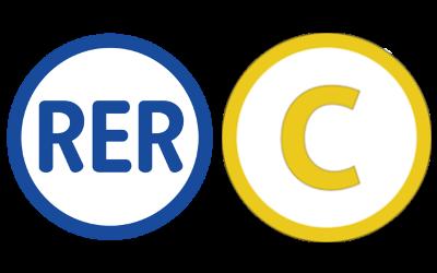 Logo actuel du RER C.