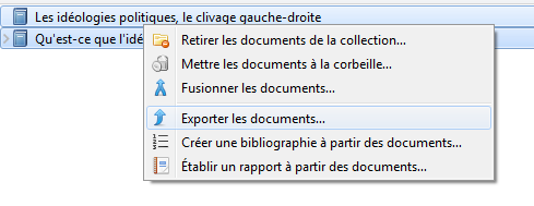 Exporter des documents