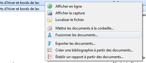 Fusionner les documents