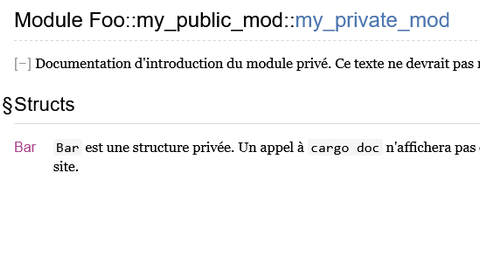 Documentation privée