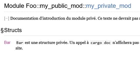 Documentation privée