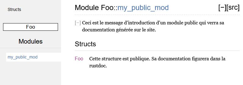 Documentation publique