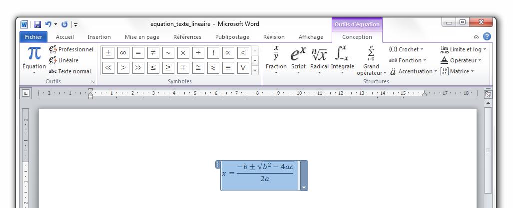 Les symboles et quations traitez des textes avec word tutoriels zeste de savoir - Phrase a mettre sur une photo ...