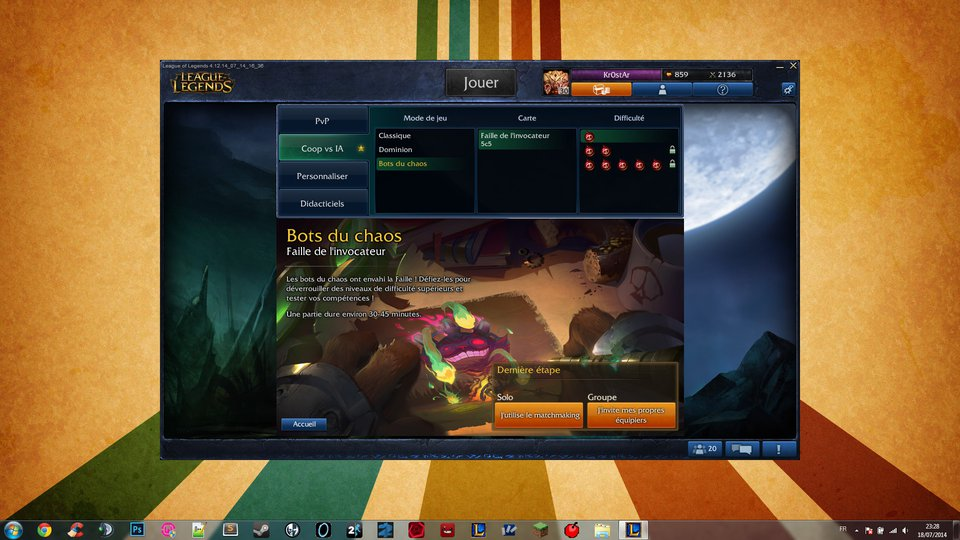 Screen du jeu League of Legends