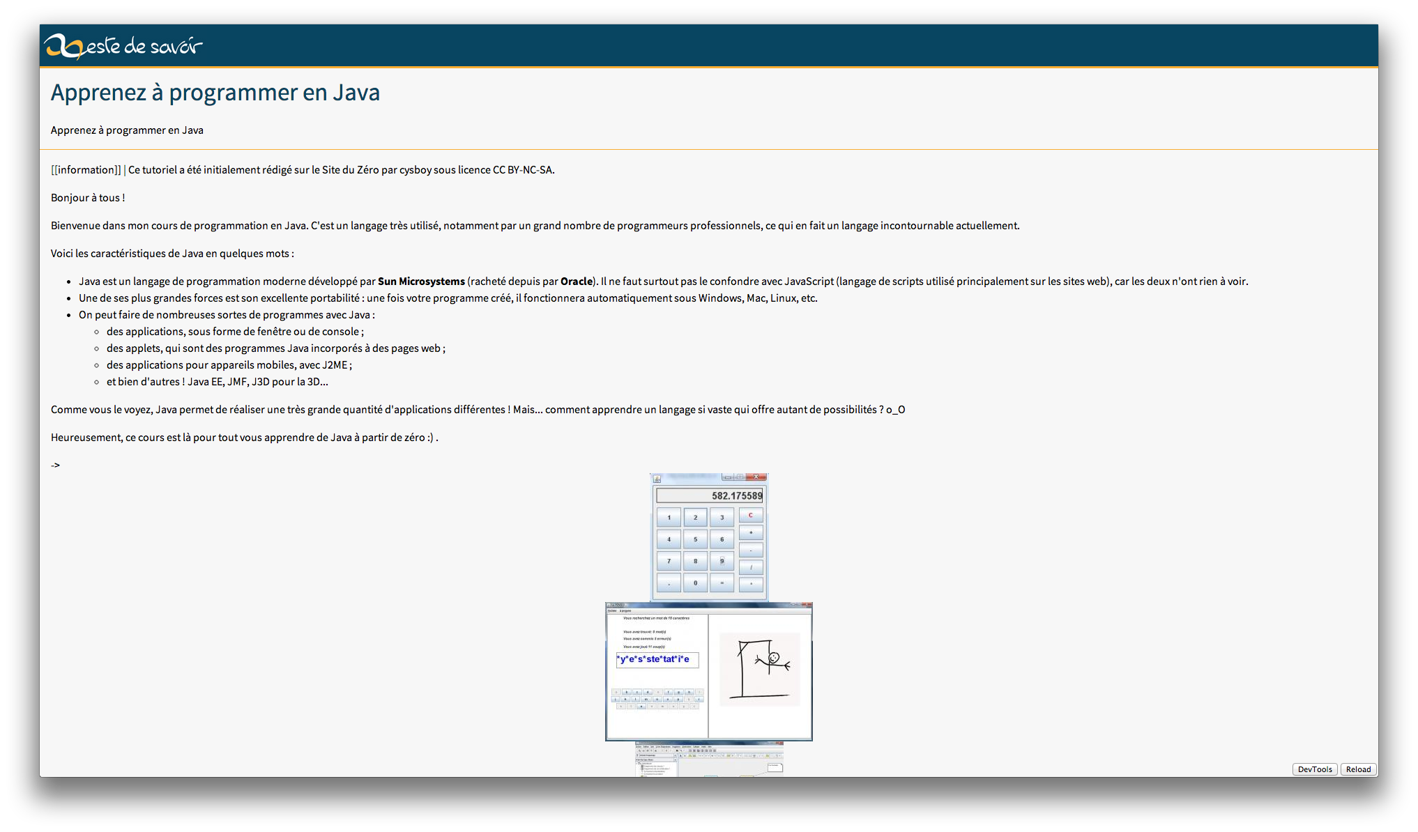 Tutoriel Java — ZdS Reader