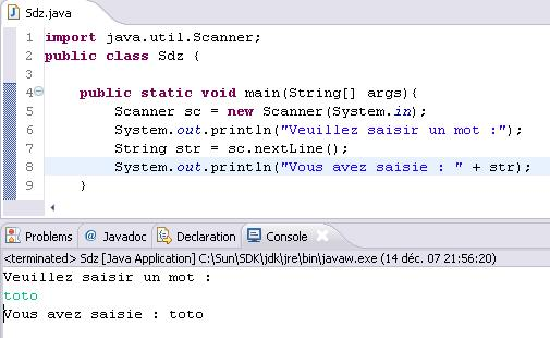 Lire Les Entrees Clavier Apprenez A Programmer En Java Tutoriels Zeste De Savoir