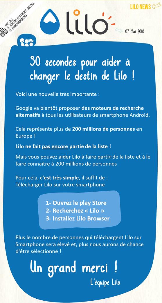Aidez Lilo Un Moteur De Recherche Francais Pour L