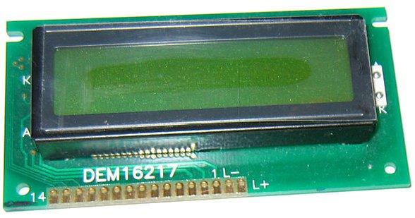 Un écran LCD alphanumérique