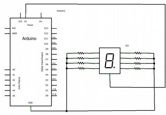 Afficheurs 7 segments arduino premiers pas en for Bascule transistor